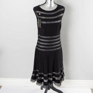 NWT Tadashi Shoji metallic inset dress - L
